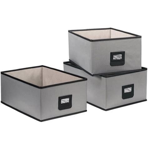 canvas storage bins canvas bins set of 3 in shelf bins