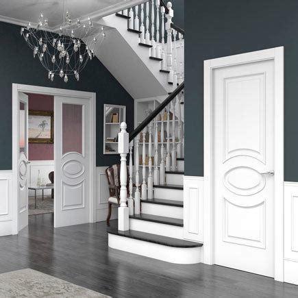 disenos de puertas de interior  blancas de madera