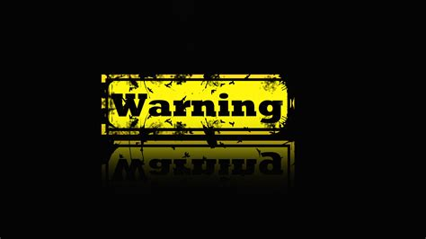 wallpaper 3d danger warning wallpaper hd wallpapersafari
