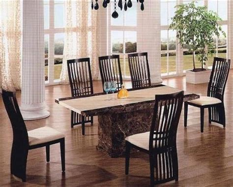 marble dining room table and chairs roma marble dining table 6 walnut high back chairs