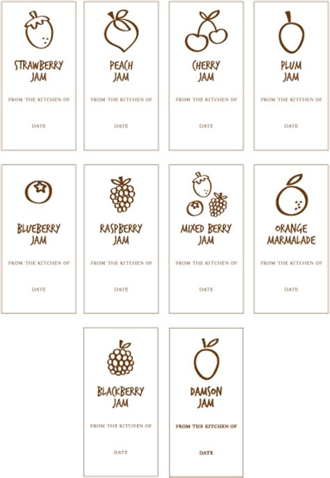 jam labels template
