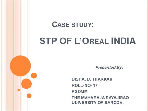 STP of L'oreal india L'oreal India
