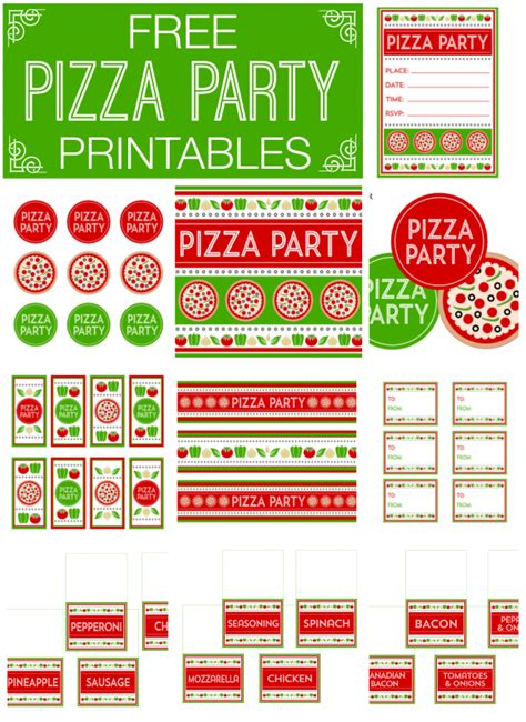 printable pizza gift cards free pizza party printables from printabelle pizza party