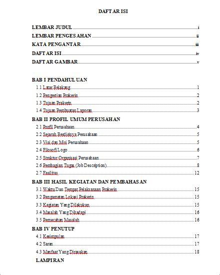 format makalah pkl contoh format laporan newhairstylesformen2014 com