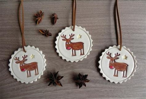 ceramic holiday gifts deer ceramic ornaments rudolf pottery gift