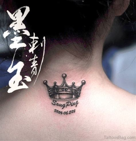 57 adorable crown tattoos on neck