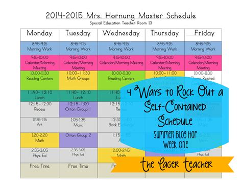 special education schedule template 4 ways to rock out a self contained schedule the eager