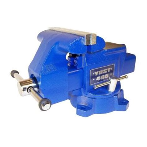 bench vise home depot yost 5 1 2 in apprentice series utility bench vise 455