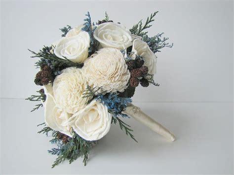 Handbouqet Flower 1 blue and white winter bridal bouquet blue s