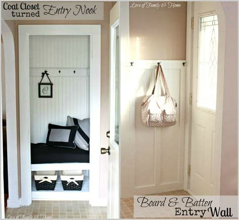 foyer nook a small closet is transformed into an entry nook with