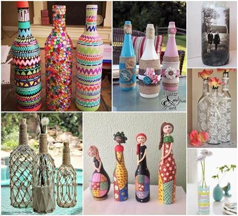 decorate bottles creative ways to decorate glass bottles