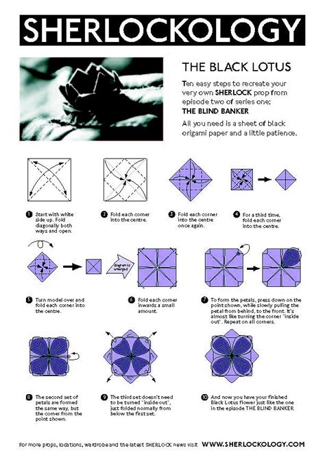 how to origami lotus black lotus origami sherlock