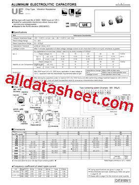 capacitor nichicon datasheet uud1h470mcl datasheet pdf nichicon corporation