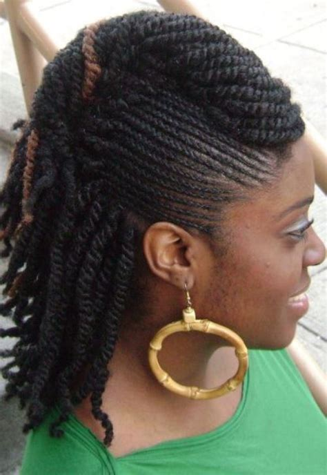 braided ponytail hairstyles for black women on pin up mohawk hairstyles for black women top 10 mohawk