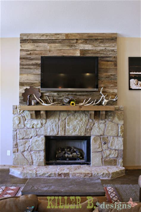 reclaimed wood and stone fireplace wall barn wood accent wall for the fireplace oh my gosh i am