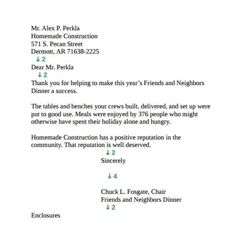 Business Letter Format And Style Personal Business Letter 9 Free Documents In