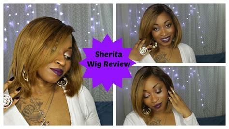 blonde bob youtube how to sherita perfect honey blonde bob wig review