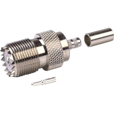 cpl9cf pl259 uhf connector crimp on for rg 58 lmr 195 194 174 teflex cable