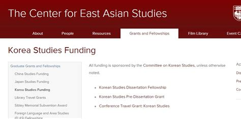 funding for dissertation research of chicago center for east asian studies korean