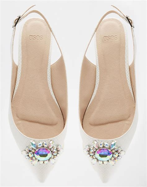 Flat Embellished Wedding Shoes by The Lowdown Flat Shoes That Are Still Wedding Worthy
