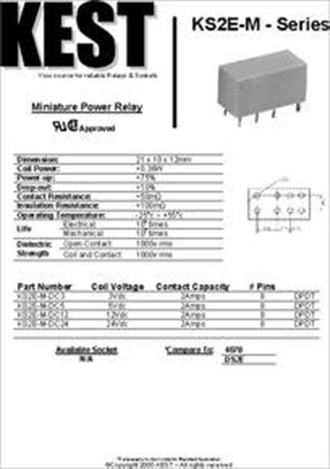 kse  dc datasheet miniature power relay