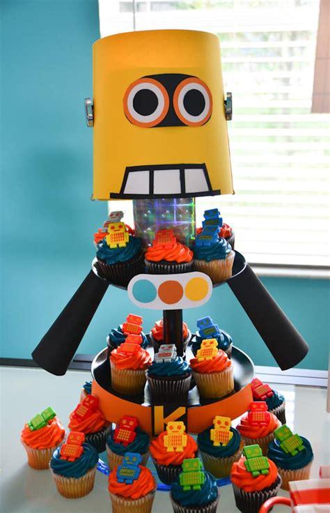 Robot Decorations kara s ideas robot birthday planning ideas