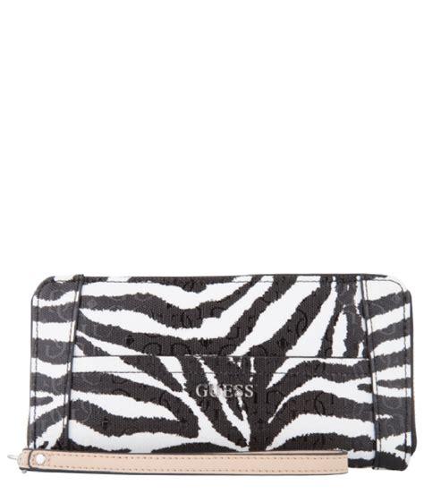 Tas Guess Bianco bianco nero large zip around organizer black zebra guess the green bag