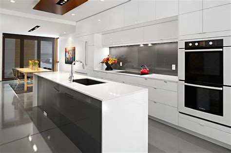 glossy white kitchen colors and fibers that express home style