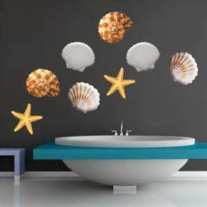 Seashell Wall Stickers Sea Shell Vinyl Wall Or Window Decals Seashells Stickers