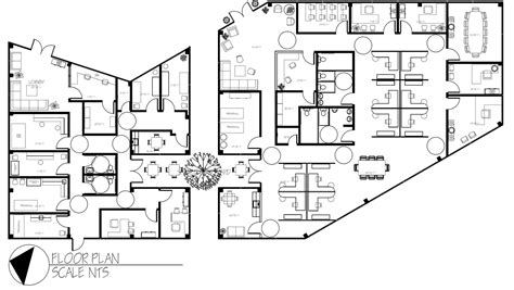 commercial building floor plans view larger image office space design pinterest