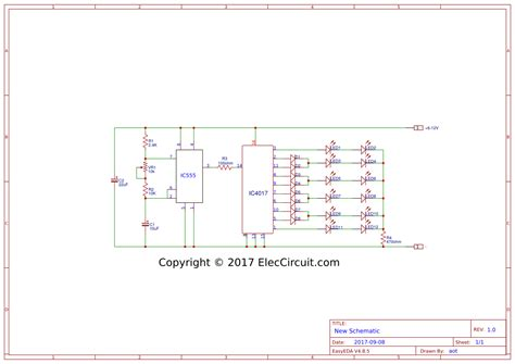 two way 12 led s running lights using 4017 and 555 astable beautiful eleccircuit com ornament diagram wiring ideas