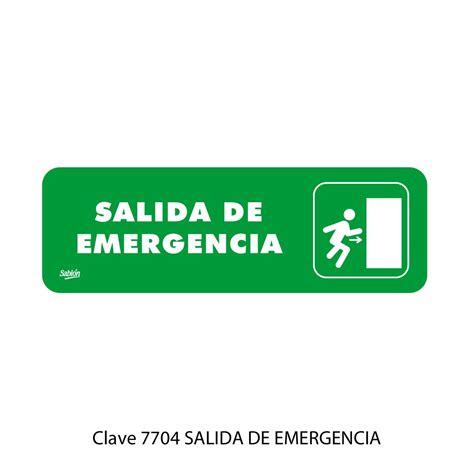 placas de salida de emergencia en mexico placas de salida de emergencia en mexico placas de