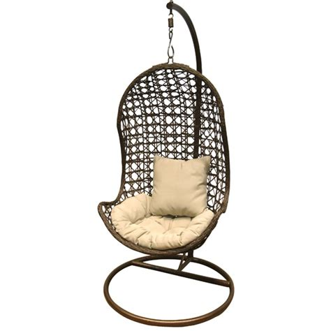 swinging pod chair rattan outdoor garden furniture hanging pod swing chair ebay
