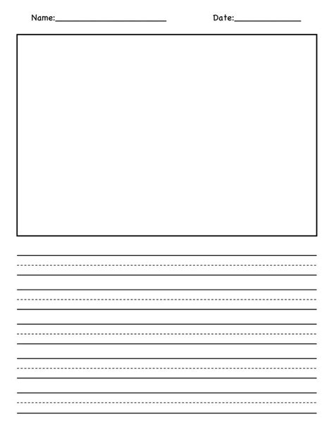 blank writing paper for grade blank picture and writing paper pdf 1st grade writing