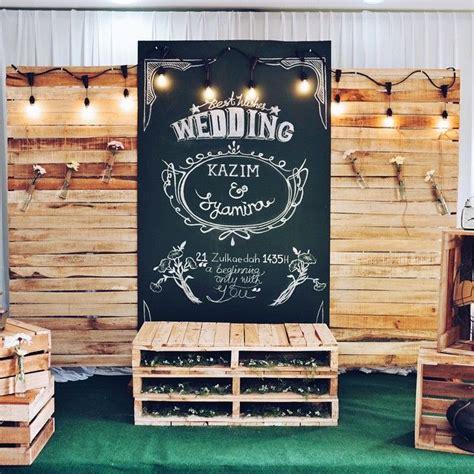 design banner photo booth kahwin kawasan lynn damya tema perkahwinan vintage rustic