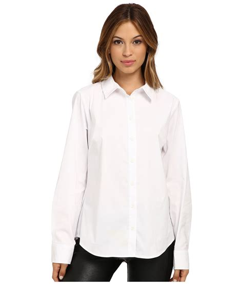 S White Sleeve Button Up Blouse by Vince Camuto Sleeve Button Up Blouse In White Ultra