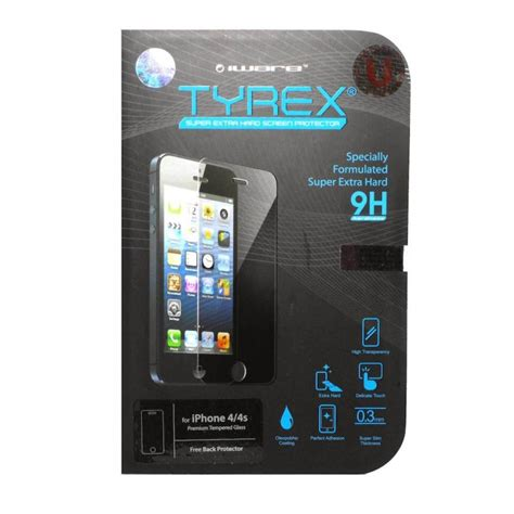 Iphone 4 Murah jual tyrex iphone 4 4s tempered glass screen protector