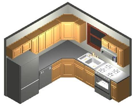 kitchen layout 8 x 8 10x10 kitchen designs