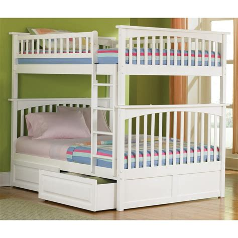home design furniture white wooden bunk bed with ladder