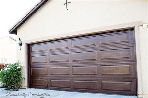 Garage Door Makeover Diy Garage Door Makeover With Stain Stains Wood Garage