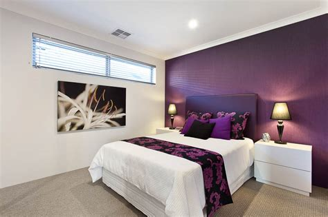 Purple Feature Wall Bedroom by Source Ventura Homes Monterey 2 Bedroom Feature Wall