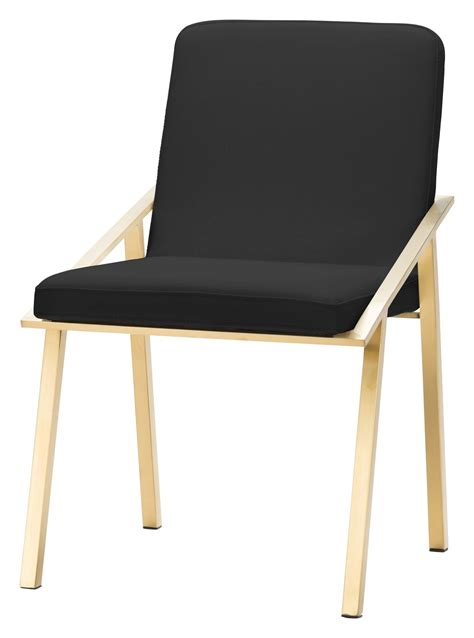 Black And Gold Dining Chairs Black And Gold Stainless Steel Dining Chair From Nuevo Coleman Furniture