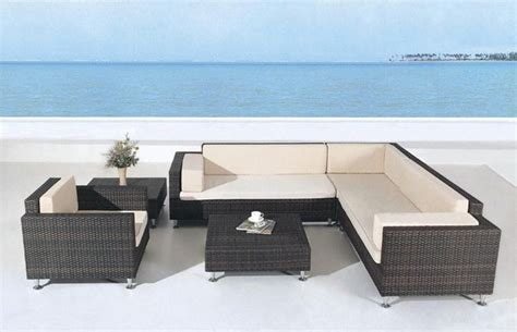 Avrim Patio Sectional Sofa Set Tropical Outdoor Lounge Sectional Patio Furniture Sets