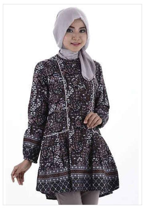 Baju Kerja Wanita Gamis Kantor Resmi Formal Menyusui Cokelat Orange contoh model baju batik muslim wanita kantor 2016