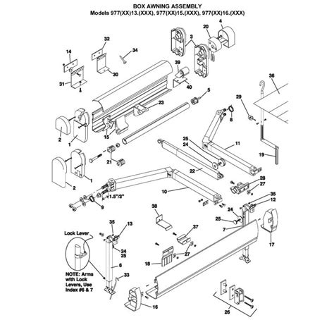 A E Awning Parts Diagram by Laurelhurst Distributors Parts Breakdown Awnings