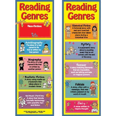 printable genre bookmarks reading genres bookmarks