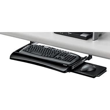 staples desk keyboard tray fellowes office suites underdesk keyboard drawer staples 174