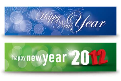 free vector new year banner happy new year banners vector free
