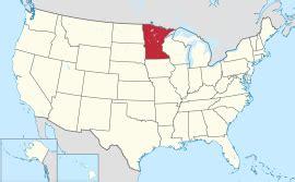 united states map minnesota minnesota