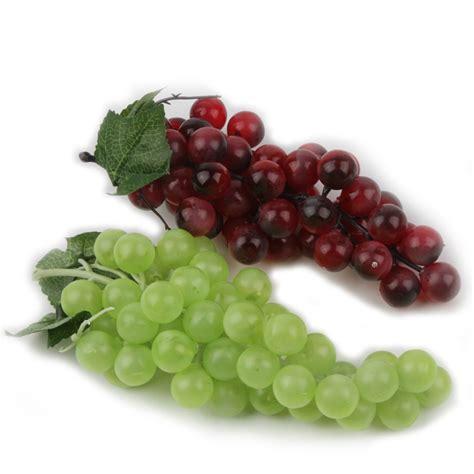 Decorative Fruit by Length 20cm Bunch Lifelike Artificial Grapes Plastic